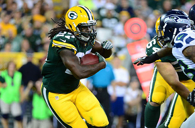 Rookie back Eddie Lacy was a workhorse for the Packers in the absence of Aaron Rodgers.