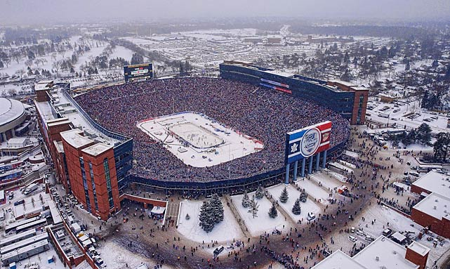 The edition between the Toronto Maple Leafs and Detroit Red Wings on New Year's Day at 109,901-seat Michigan Stadium was the biggest yet.
