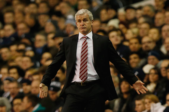 Stoke City manager Mark Hughes was fined by the FA for improper conduct.