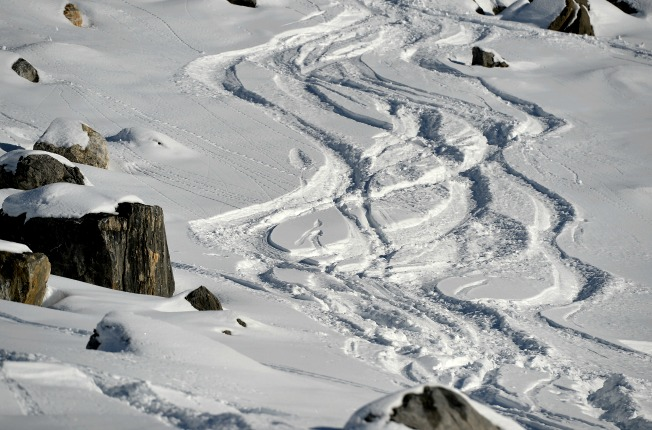Michael Schumacher reportedly hit his head on a snow-covered rock on this slope at Meribel Resort.