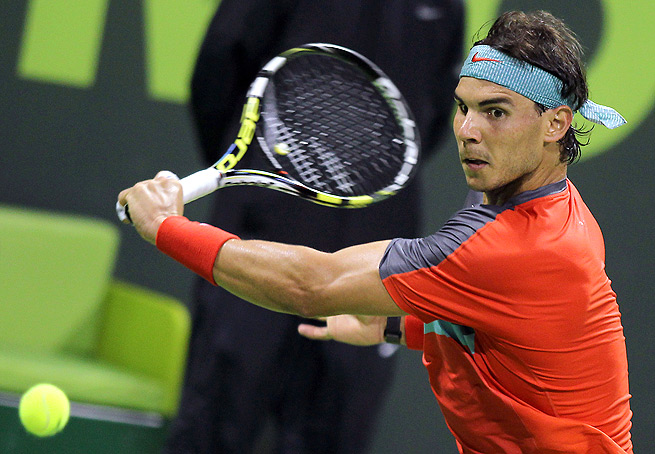 Rafael Nadal will play German qualifier Peter Gojowczyk in the semifinal in Qatar.