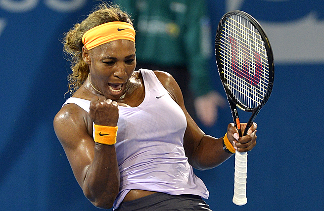 Serena Williams improved her career record against Maria Sharapova to 15-2 in Brisbane.