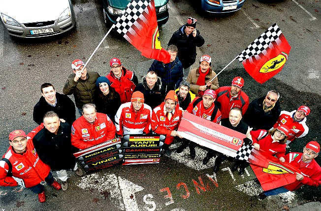 Fans of Michael Schumacher gathered outside the hospital where he remains in a coma.