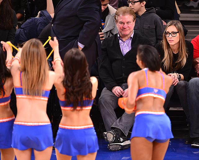 The man fomerly known as Arli$$ ogles the action at Madison Square Garden where the hometown Knicks were attempting to fend off the Toronto Raptors.