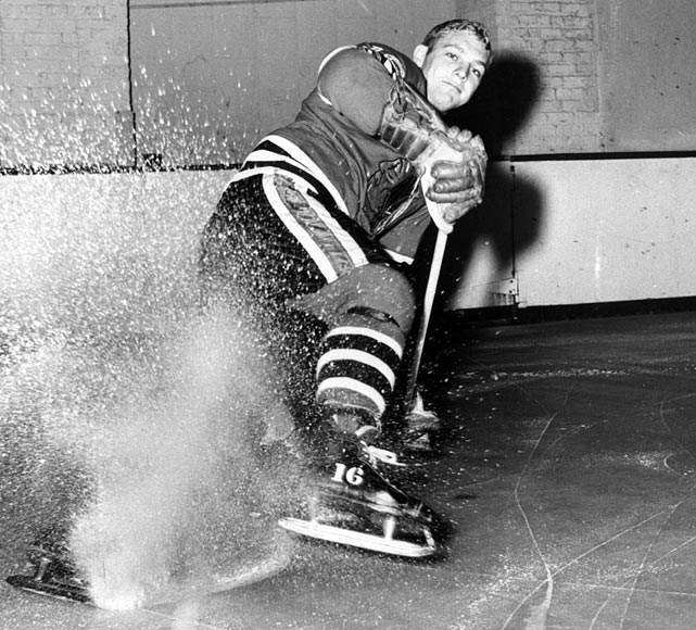 On Jan. 3, 2014, Hall of Fame left wing and 12-time NHL All Star Bobby Hull celebrates his 75th birthday. Armed with superb speed, superior strength and a screaming slap shot clocked at 120 mph, Hull was one of the most feared and effective scorers hockey has known. He ranked second in league history in goals scored when he left for the WHA in 1972. He earned two league MVP awards (1965 and '66), three Art Ross Trophies and the title of Associated Press Player of the '60s.