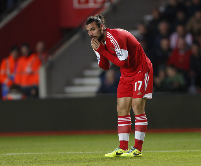 Southampton striker Dani Osvaldo is suspended three games for violent conduct.