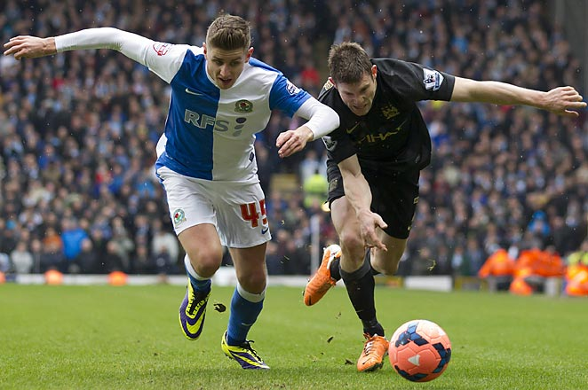 James Milner (right) and Manchester City were held to a 1-1 draw by Blackburn in the FA Cup's third round.