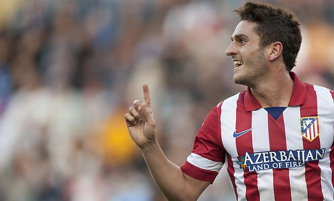 Koke's goal pushed Atletico Madrid into the La Liga lead with a win against Malaga on Saturday.