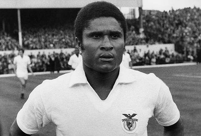 Eusebio captured the world's attention with his performance at the 1966 World Cup and a legendary career with Benfica.