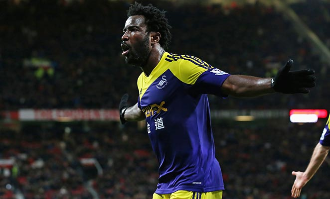 Wilfried Bony's late goal gave Swansea City a win at Old Trafford to knock Manchester United out of the FA Cup.