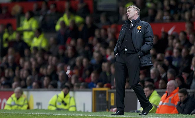 David Moyes watched Manchester United drop out of the FA Cup on Sunday with a 2-1 loss to Swansea at Old Trafford.