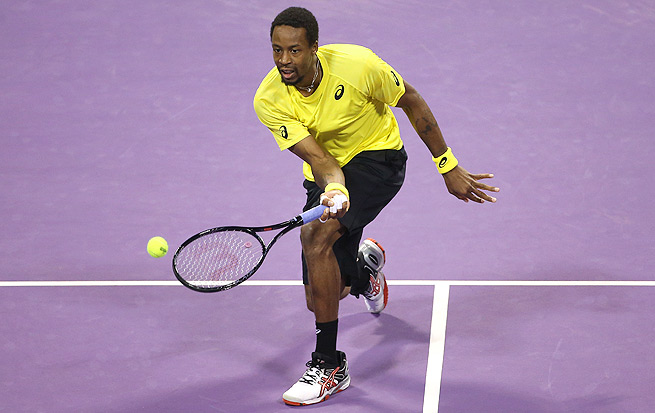 Gael Monfils put up a fight, but lost to Rafael Nadal in the final of the Qatar Open.