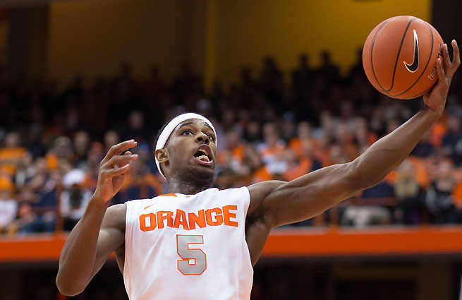 C.J. Fair played 40 minutes and scored 15 points in Syracuse's close win against Miami on Saturday.
