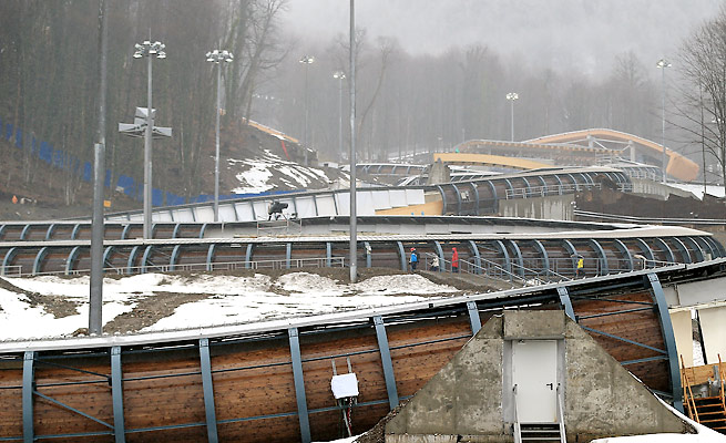 Safety was critical at Sanki Olympic Sliding Center after Nodar Kumaritashvili's death in Vancouver.