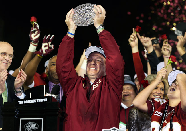 Florida State coach Jimbo Fisher has some questions about next season's new playoff system.