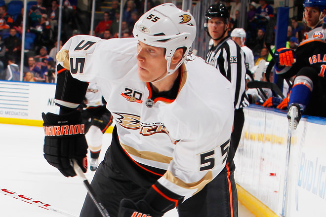 Bryan Allen has seven assists and a plus-13 rating in 40 games this season for the NHL-leading Ducks.