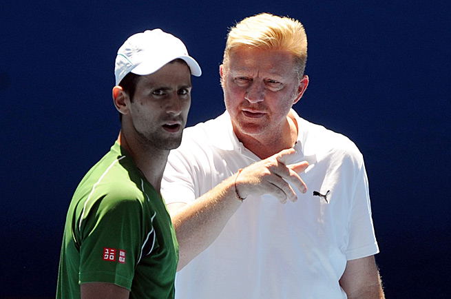 Novak Djokovic (left) has started working with another multiple Grand Slam winner in Boris Becker.