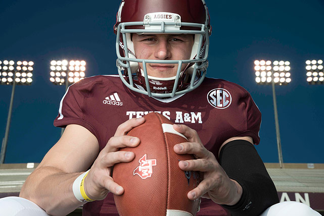 Manziel poses during an SI photo shoot in March 2013.