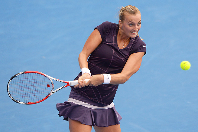 Petra Kvitova came up short against Bulgarian qualifier Tsvetana Pironkova, losing 6-4, 6-3.