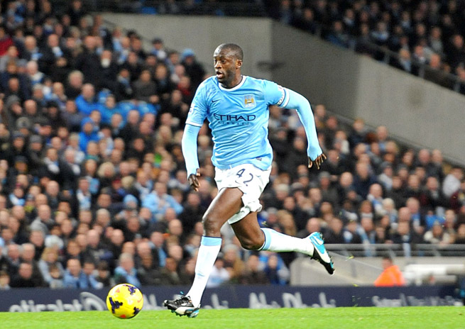 Manchester City and Ivory Coast midfielder Yaya Toure who his third Africa Player of the Year award.