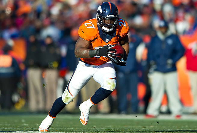 Knowshon Moreno was expected to play behind Montee Ball, but he broke out in the season's first half.
