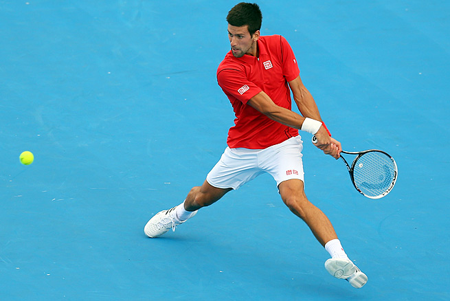 Second-ranked Novak Djokovic is seeking to win his fourth consecutive Australian Open title.