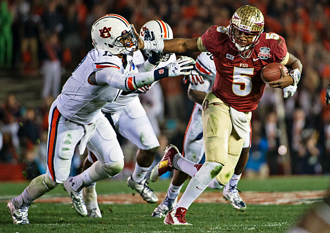After winning the title this season, Jameis Winston (5) and Florida State should be in the mix in 2014.