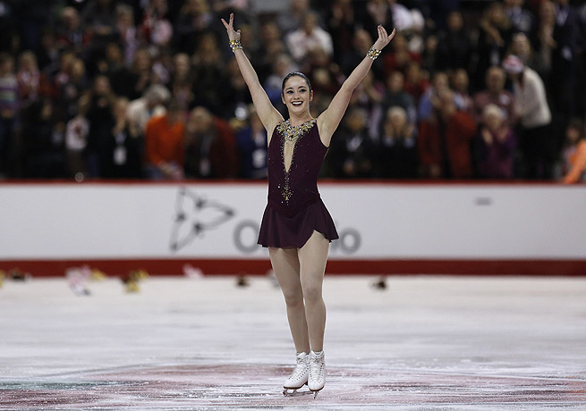 Kaetlyn Osmond will head to Sochi after finishing first in Canada's national figure skating competition.