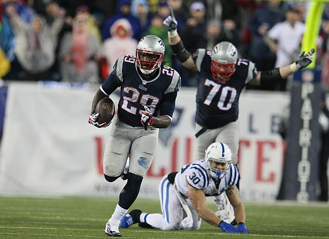 Blount broke free for a 73-yard touchdown jaunt in the second half.