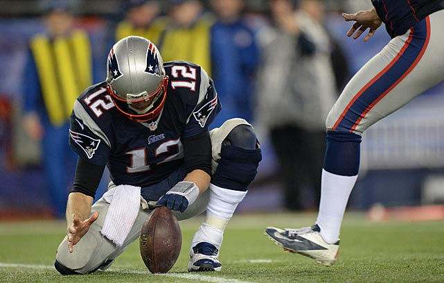 With their regular holder suffering an injury during the game, the Patriots resorted to using Tom Brady in that role.