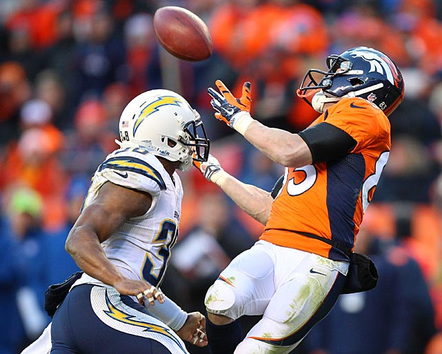 After being sidelined several weeks as he recovered from a concussion, Wes Welker caught six passes for 38 yards and one touchdown in his return.