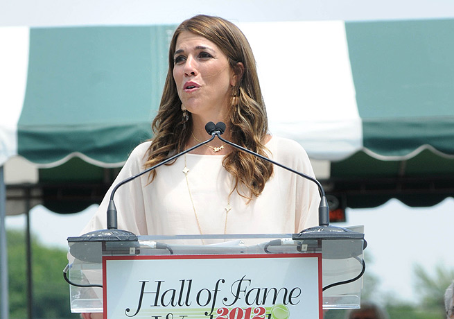 Jennifer Capriati was inducted into the International Tennis Hall of Fame in 2012.