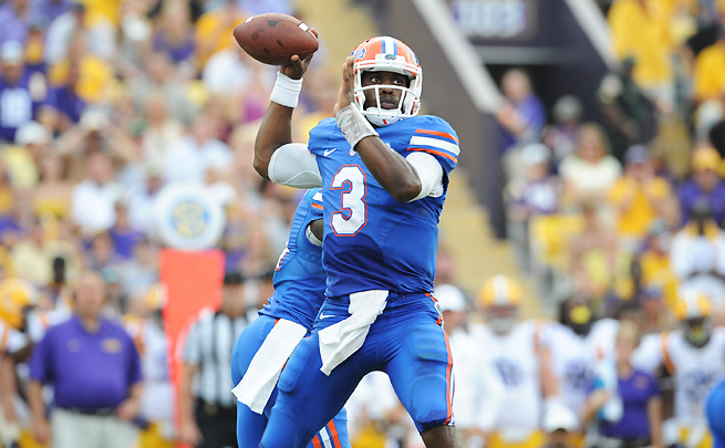 Tyler Murphy threw for six touchdowns and five interceptions in eight games for Florida in 2013.