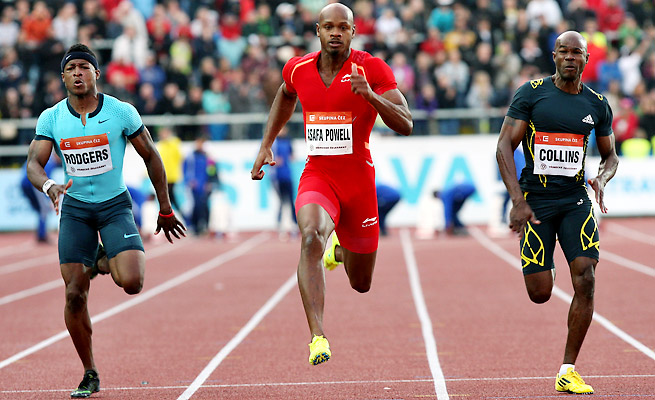 Asafa Powell tested positive for a banned stimulant at Jamaica's national trials in June.