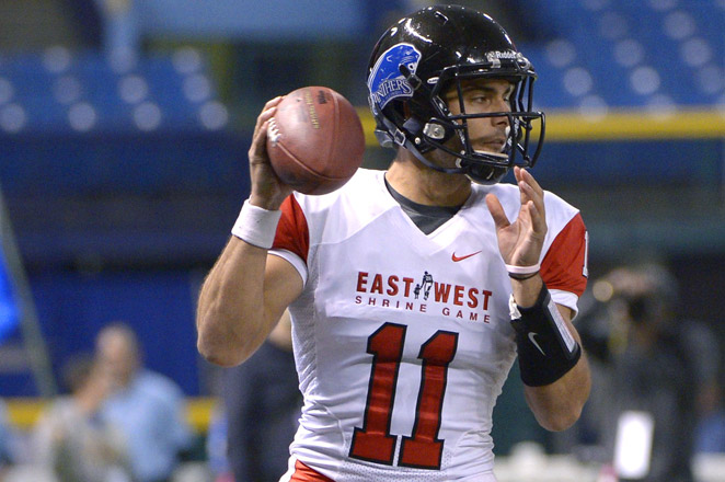 Jimmy Garoppolo of Eastern Illinois was named the game's offensive MVP, as the East beat the West 23-13.