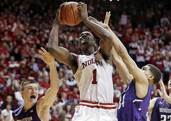 Noah Vonleh and Indiana suffered a damaging home loss to Northwestern after a win over Wisconsin.