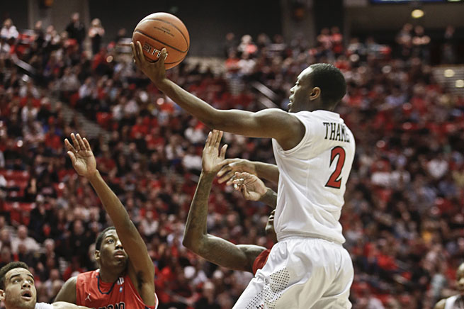 Xavier Thames and San Diego State are tourney locks and might even have a chance at being a top seed.