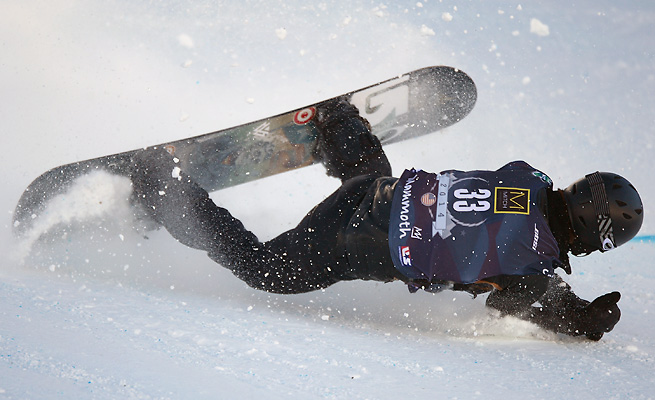 Shaun White took a bad fall Thursday during a slopestyle Olympic qualifying run.