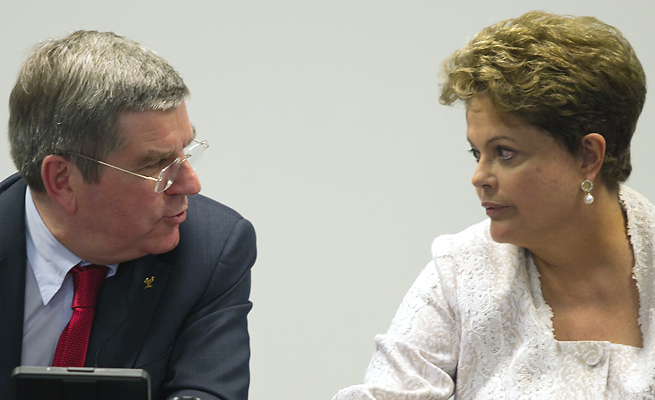 Thomas Bach visited Brazil President Dilma Rousseff for the first time since becoming IOC president.