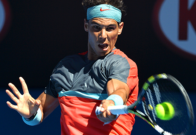 After losing the first set, Rafael Nadal came storming back to beat Grigor Dimitrov 3-6, 7-6 (3), 7-6 (7), 6-2.