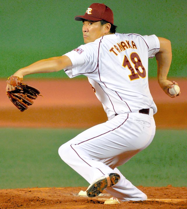 The Yankees, Dodgers, Cubs, White Sox and Diamondbacks were all viewed as finalists for the 25-year-old Japanese ace, but it was the Yankees who came out on top, signing Tanaka to a seven-year, $155 million deal. He was 24-0 with a 1.27 ERA in leading the Golden Eagles to the Japan Series title last season. Tanaka is the latest player to join baseball's exclusive club of $100 million men.