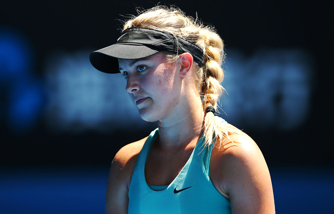 Eugenie Bouchard rose over 100 spots in the WTA tour rankings in 2013.