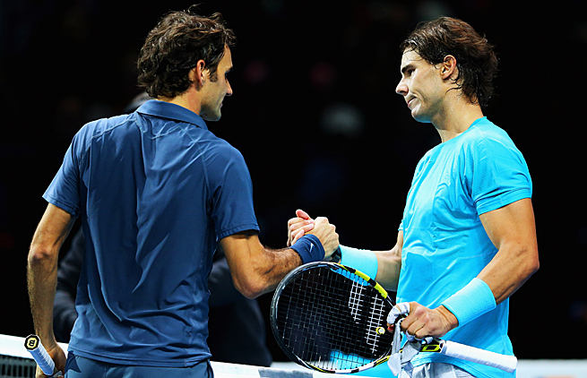 Roger Federer and Rafael Nadal last met at the ATP World Tour Finals in November. Nadal won 7-5, 6-3.