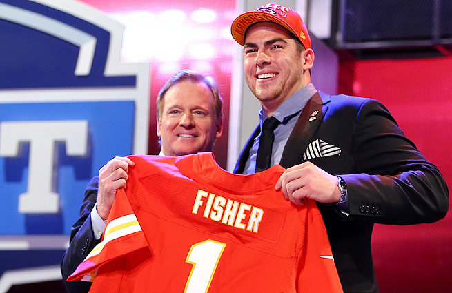 Eric Fisher, the No. 1 overall pick in last year's draft, looked lost early on for the Chiefs.