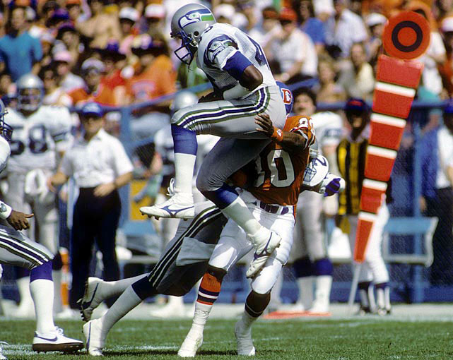 Kenny Easley only played seven years, but he established himself as one of the league's best safeties during that time. Drafted fourth overall in 1981, Easley was a five-time Pro Bowl pick and a three-time first-team All-Pro. In 1984, he intercepted ten passes, two of which he returned for touchdowns, and was named the NFL's defensive player of the year. Easley was also known as a hard-hitter. But when Seattle tried to trade the safety to Arizona, Easley was forced to retire after a physical showed serious health problems in his kidneys.