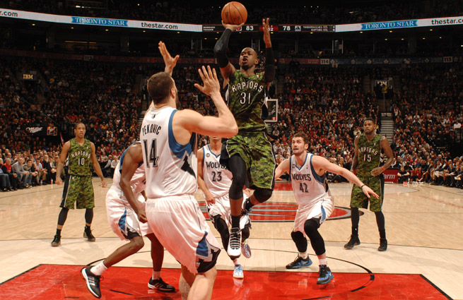 Terrence Ross has started the last 22 games for the Raptors, scoring in double-digits in 12 of them.
