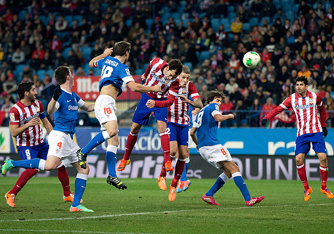 Diego Godin's header was the only goal Atletico needed in its victory against Athletic Bilbao.