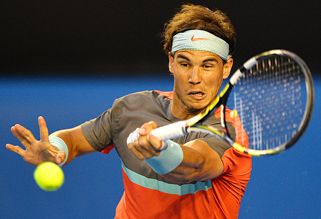 Rafael Nadal had exactly half of the number of unforced errors that Roger Federer committed.