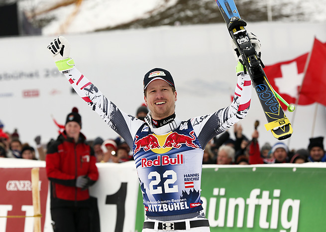 Hannes Reichelt became the first Austrian to win the Hahnenkamm downhill in eight years.