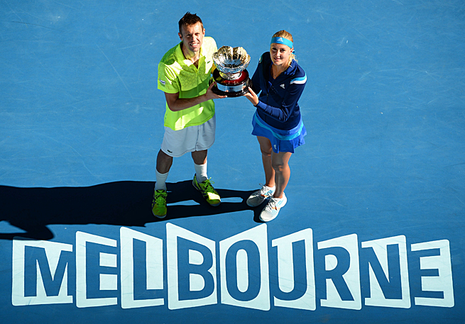 Daniel Nestor and Kristina Mladenovic beat Sania Mirza and Horia Tecau in just 58 minutes.